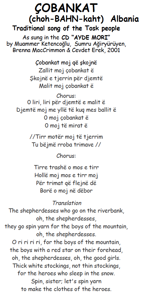 Greek Folk Music Lyrics