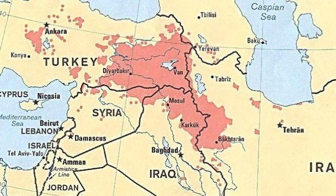 Kurdistan map