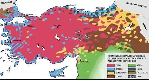 Anatolia ethnic, 1910