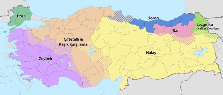 Turkish dance regions